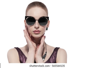 fashion portrait woman in glasses