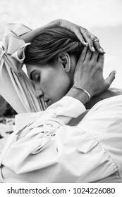 fashion portrait woman nature jewelry - Shutterstock ID 1024226080