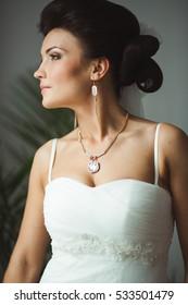 fashion portrait of young bride