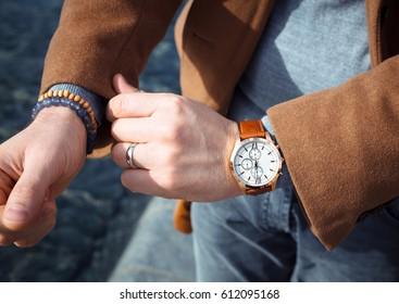 Leather Bracelet Images, Stock Photos & Vectors
