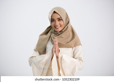 Fashion portrait of young muslim wearing hijab