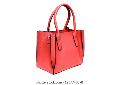 Fashion purse handbag on white background isolated