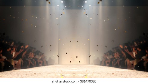 Fashion runway out of focus,blur background  - Shutterstock ID 381470320