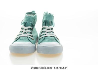 Fashion shoes isolated on white background