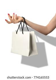fashion shopping beautiful manicured hand