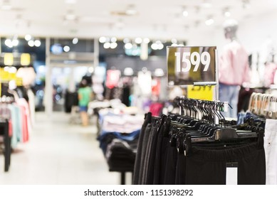 Fashion shopping store with price isolated
