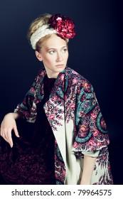 Fashion shot of a beautiful young woman.