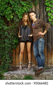 Fashion shot of a trendy boy and girl