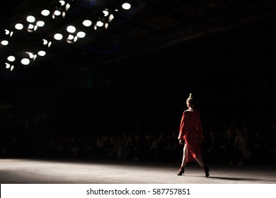 Fashion Show, A Catwalk Event Blurred on purpose, Fashion Week.