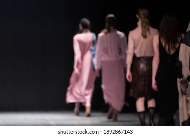 Fashion Show, Catwalk Event, Runway Show, Fashion Week themed photo. Blurred on purpose