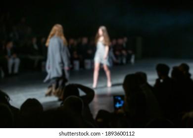 Fashion Show, Catwalk Event, Runway Show, Fashion Week themed photo. Blurred on purpose.
