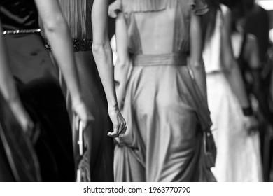 Fashion show, catwalk event, runway show, fashion week themed photograph. - Shutterstock ID 1963770790