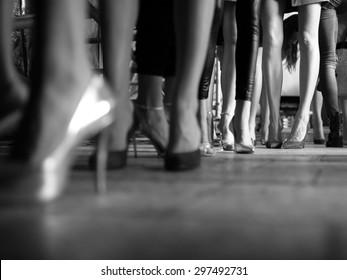 Fashion Show, Catwalk Runway Show Event Backstage Photo.