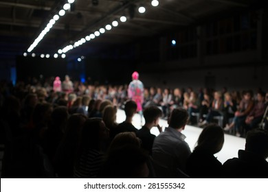 Fashion Show, shot from the audience, blurred on purpose
