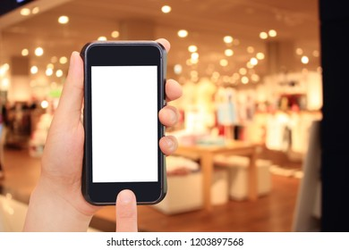 Fashion, smartphone and internet shopping