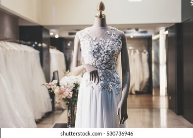 fashion store with wedding dresses