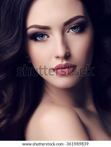 Fashion Studio Portrait Beautiful Young Woman Stock Photo Edit Now