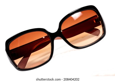 Fashion sunglasses with clipping path