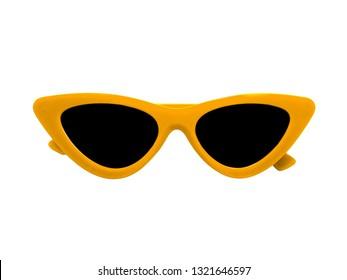 Fashion Sunglasses on white backgound