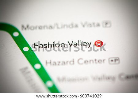 Fashion Valley San Diego Map.Fashion Valley Station San Diego Metro Stock Photo Edit Now