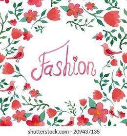 Fashion watercolor art print