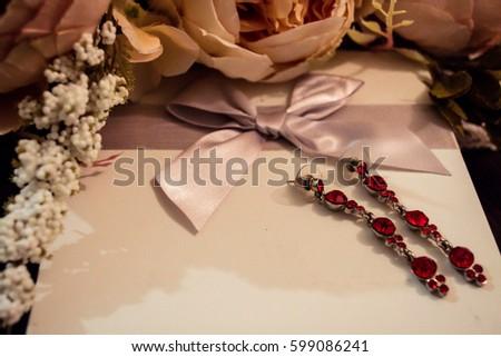 Fashion Wedding Background Gift Card Bouquet Stock Photo Edit Now