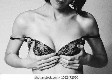 fashion woman in bra