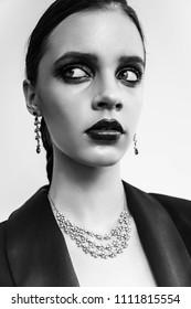 fashion woman portrait editorial beauty magazine