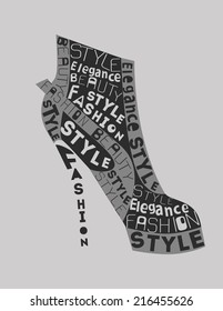 Fashion Woman  Shoe from words.