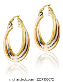 fashion women's earrings in gold. women's jewelery gift