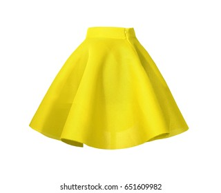 Fashion Yellow skirt
