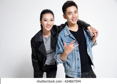 Fashion young men and women