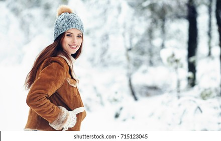 Fashion young woman in the winter time