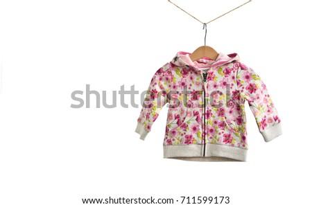 24d10dda3 Fashion Zipper Babygirl Sweater Hoody Hanging Stock Photo (Edit Now ...