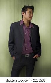 A fashionable asian man.