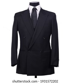 fashionable and cool black suit