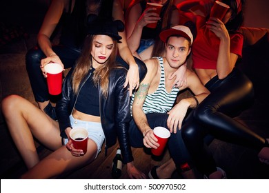 Fashionable Couple in Club
