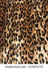 Fashionable Leopard Seamless Pattern. Stylized Spotted Leopard Skin Background