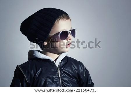 Fashionable little boy in