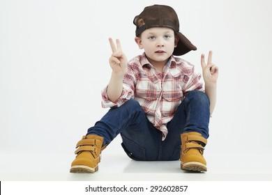 fashionable little boy.stylish kid. fashion children.funny child