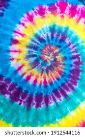Fashionable Pastel Blue, Yellow Red, Green, Purple Retro Abstract Psychedelic Tie Dye Swirl Design.