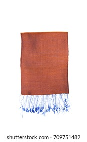 Fashionable women's scarf on a white background