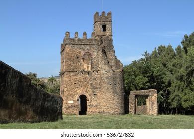 The Fasiledas Palace of Gonder in Ethiopia