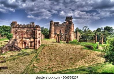 Fasilidas palace in Fasil Ghebbi site , Gonder