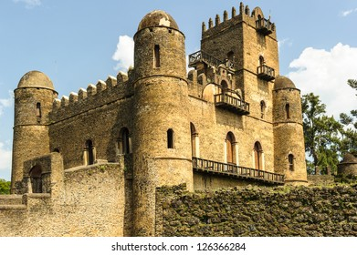 Fasilides Castle, founded by Emperor Fasilides.Gondar or Gonder (Ethiopia), once the old imperial capital and capital of the historic Begemder Province.