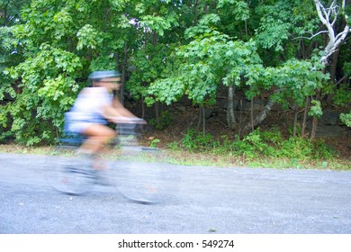 Fast bicycle - Motion Blur