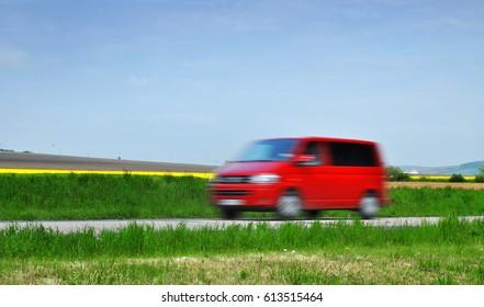 Fast car van transporter transport