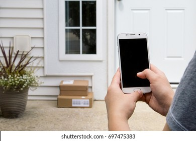 Fast delivery concept. Fast shipping to the door of your house.