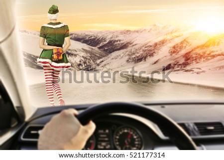 fast driver car interior on winter stock photo edit now 521177314 rh shutterstock com