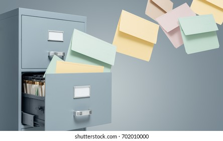 Fast files transfer into a filing cabinet: data storage, backup and archive concept